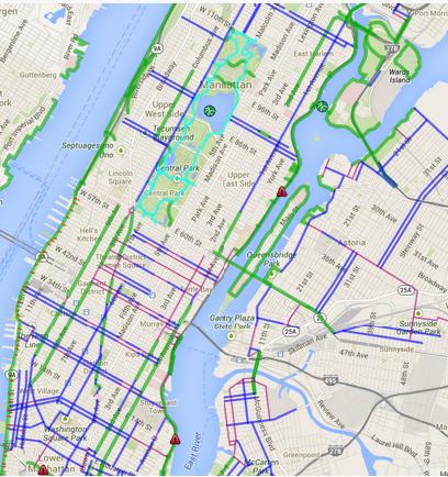 Bike Lane Nyc Map.Citibike First Rides Sasha Dichter S Blog